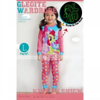 GW 197 Pajamas Glow In The Dark Code L - Pink Pony