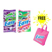 Promo Attack Easy Detergent 1.2kg Free Goodie Bag (Romantic Flowers/Purple Blossoms)