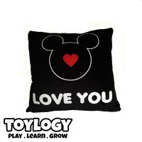 Bantal Disney Mickey Mouse ( Pillow Mickey Mouse - I Love u ) 12 inch