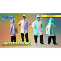 Jas Hujan Raincoat Remaja Tas Backpack - Elmondo 604
