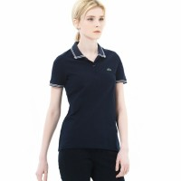 #[LACOSTE] Stitch mini-sleeved polo/스티치 미니 반팔폴로