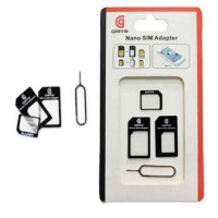 Griffin 3 in 1 Nano Micro SIM Card (Non kabel + Sim Card Tray Holder)/ Conventer Sim Card - color