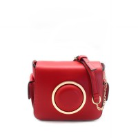 London Berry by HUER - Meroni Ring Boxy Sling Bag Red