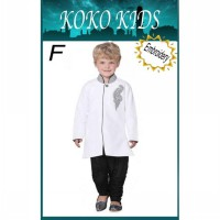 SEKK1F - Koko Kids Set White + Black Pants.