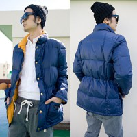 Duck Duck down padded parka coat color jumper jumper