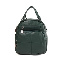 London Berry by HUER - Carol 3 Ways Backpack Green