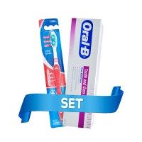 P&G Oral B Tooth & Gum Care Paste 100ml Free Oral B All Rounder 123 Clean 40 Blister