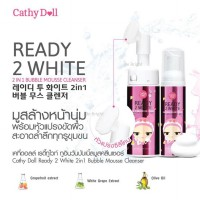 Cathy Doll Ready 2 White 2 in 1 Bubble Mousse Cleanser 120ml with Silicone Brush