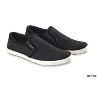 Casual Shoes Mens Style Canvas Sol Tpr Hitam – BLY 245