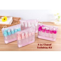 HPR236 - Travel Toiletries Kit Botol Lotion Sabun Antis Kosmetik 5-In-1