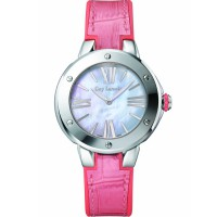 guy laroche swiss made jam tangan wanita - SL30401 leather strap pink