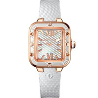 guy laroche swiss made jam tangan wanita -SL30102 leather strap putih