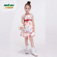 Mitun White Flower Dress with Belt