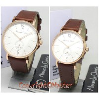 Alexandre Christie AC8458 Brown Rose Gold Sepasang