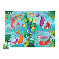 [holiczone] Crocodile Creek Mermaid 72 piece Junior Jigsaw Puzzle 14 x 19/1844858