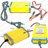 Motorcycle 12 Volt Fully-Automatic Accu Charger Casan Travel Cas Aki 3Ah - 24 Ah Arus 2 Amper 12v 2A