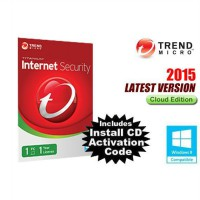 Trend Micro Internet Security Cloud Edition 1PC 1 Tahun [ Licensi + CD Only ]