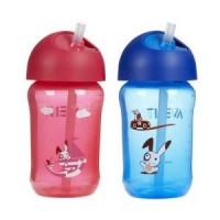 Avent straw cup 340ml 18m+ / Botol minum anak