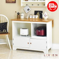 Meja Makan D60 Story Table Maple| Meja Dapur LIVIEN Furniture