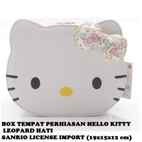 Box Tempat Perhiasan Hello Kitty Leopard Hati Sanrio License Import