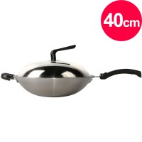 Shimizu 316 stainless steel composite gold pan 40cm