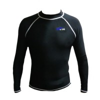 Godive Diving Snorkeling Long Sleeve Rash Guard Sl-028 Black Size XL
