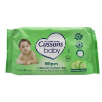 Cussons Baby Wipes Naturally Refreshing Cucumber Extract 50 Sheets