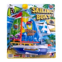 Mainan Anak Sailing Boat - Water Game Battery Operated - Ages 3+