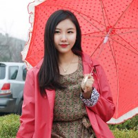 Women Rain Coat Trench Coat Wind Breaker / Leopard point _ a pink raincoat (with pouch) 1607664
