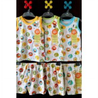 Stelan Singlet set Celana 3/4 Jungle Velvet Junior 3in1 size XXL