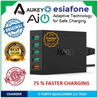 [esiafone fast charging] AUKEY 5 Port Qualcomm Quick Charge 2.0 USB Charger Adapter with AiPower