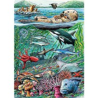 [poledit] Cobble Hill Life on the Pacific Ocean Jigsaw Puzzle, 35-Piece (T1)/11888322