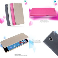 OnePlus Three Nillkin Sparkle Leather Case Casing Cover Flip