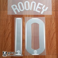 10 ROONEY Manchester United UCL Home 2007/08 Home Nameset Football Printing Original
