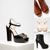 [F21] FOREVER 21 100% Original High Heels Sandal Boots Wedges with Box | Sepatu Hak Tinggi Branded