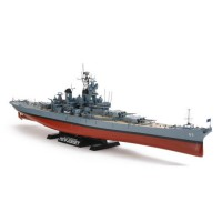 Tamiya 1/350 U.S. Battleship BB-62 New Jersey (w/Detail Up Parts) Mainan Anak