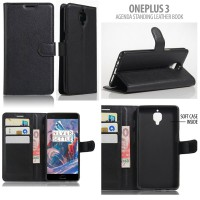 OnePlus Three Agenda Standing Leather Book Case Casing Cover