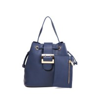 London Berry by HUER - Jessy Bucket Bag With Mini Wallet Navy