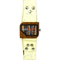 [worldbuyer] Mistura Pellicano Watch Hollister Strap Pui Wood Ebony Dial/504507
