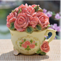 PAJANGAN BUNGA RESIN MODEL TEA CUP