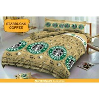 Starbucks Coffee - Bedcover Kintakun - 160 cm - D'LUXE / D'LUXE KIDS NEW EDITION BED COVER