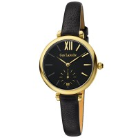 Guy laroche L2018-02 - jam tangan wanita - leather strap - hitam