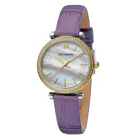 Guy laroche L2014-02 - jam tangan wanita - leather strap - ungu