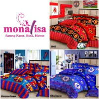 Monalisa Bed Cover Set + Sprei Double Uk. 180