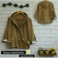 WOMAN JACKET MOCHA / PARKA WOMAN JAKET MOCCA / FANCY HOODIE BABY CANVA