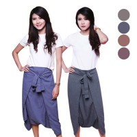 Supernova Tied Harem Pants Celana Panjang Katun Wanita - 6 Colors