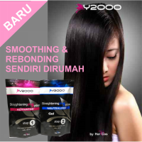 Y2000 SELF HAIR STRAIGHTENING GEL SMOOTHING/REBONDING/OBAT PELURUS RAMBUT 1 SET