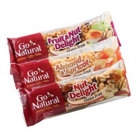 Go Natural Healthy Snack Bar Fruit&Nut Delight/Almond&Apricot/Nut Delight