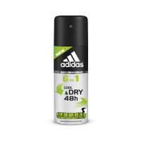 (1+1) 150ml Adidas 6 in 1 Cool & dry 48h Anti-Perspirant Deo spray