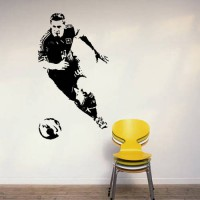 [globalbuy] Aiwall Argentine football wall stickers sport vinyl decals Barcelona star Lion/2935482
